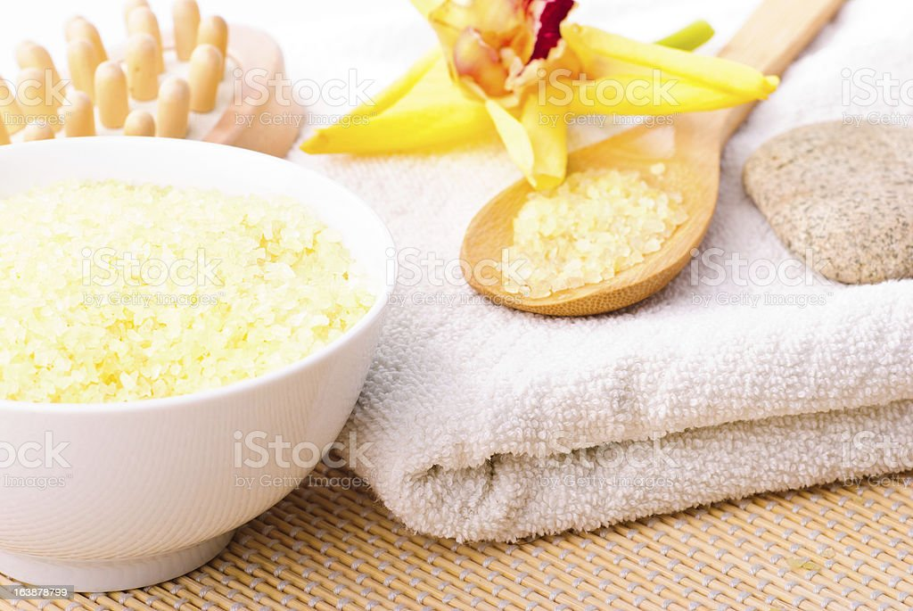 bathing salt, spa concept royalty-free stock photo