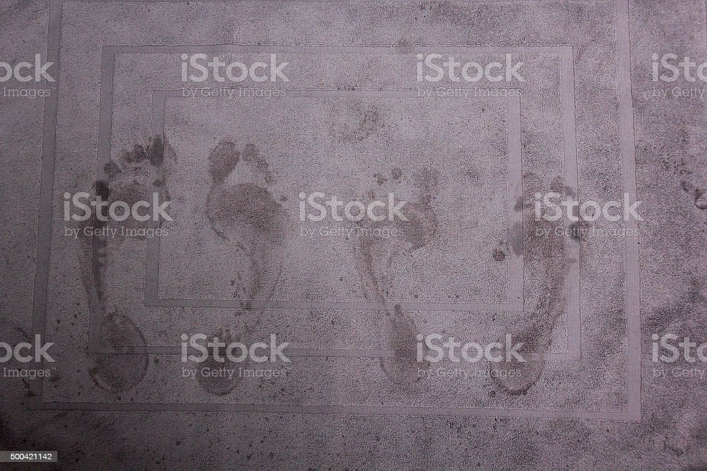 Bathmat stock photo