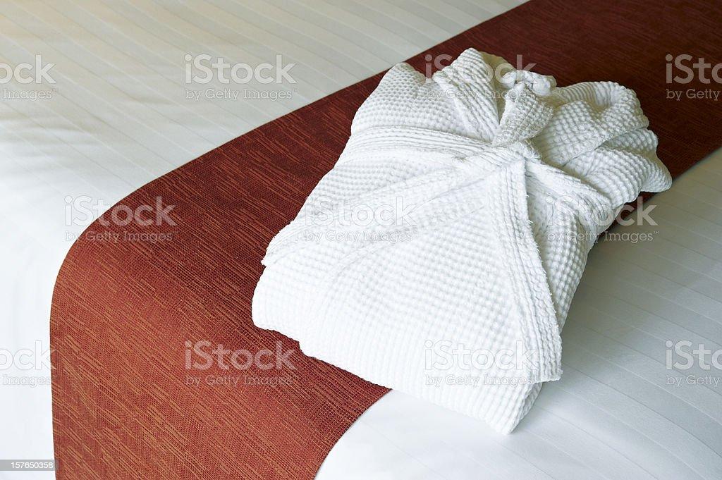Bathrobe stock photo