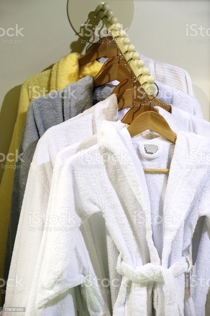 Bathrobes royalty-free stock photo