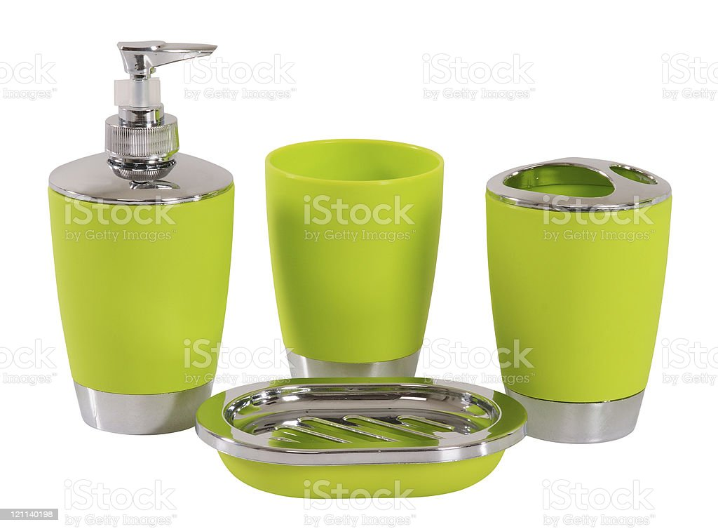 Bathroom accessories. Clipping path stock photo