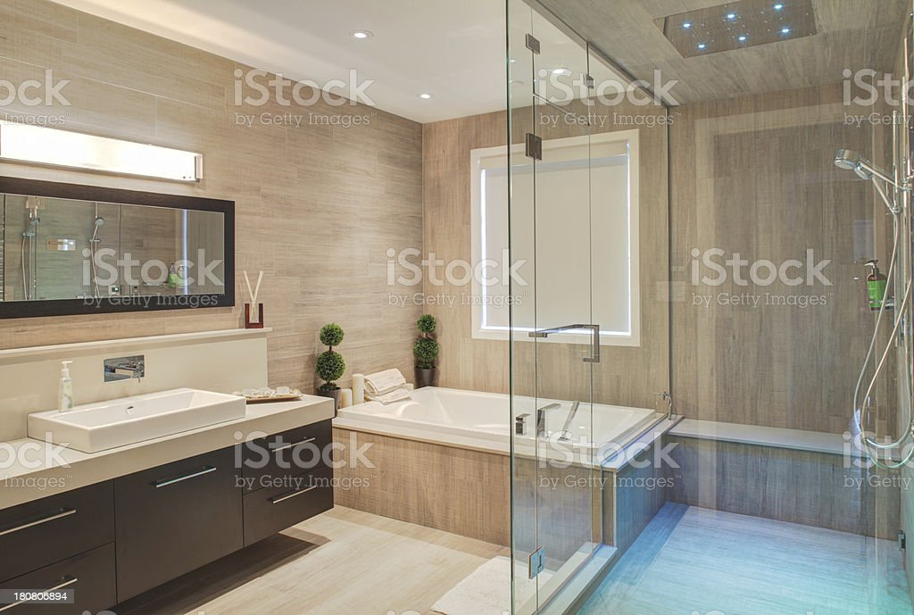 bathroom and shower stock photo