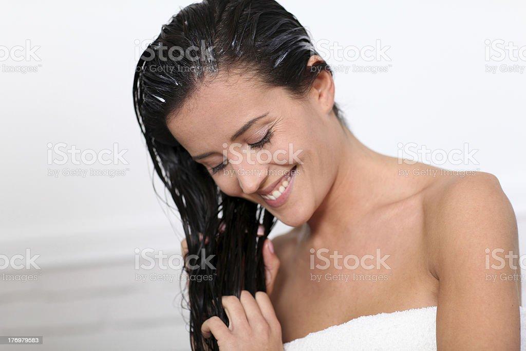 Bathroom beauty stock photo