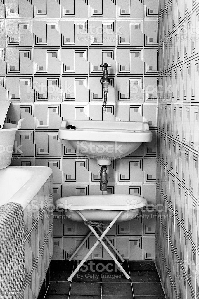 Bathroom. Black and White royalty-free stock photo