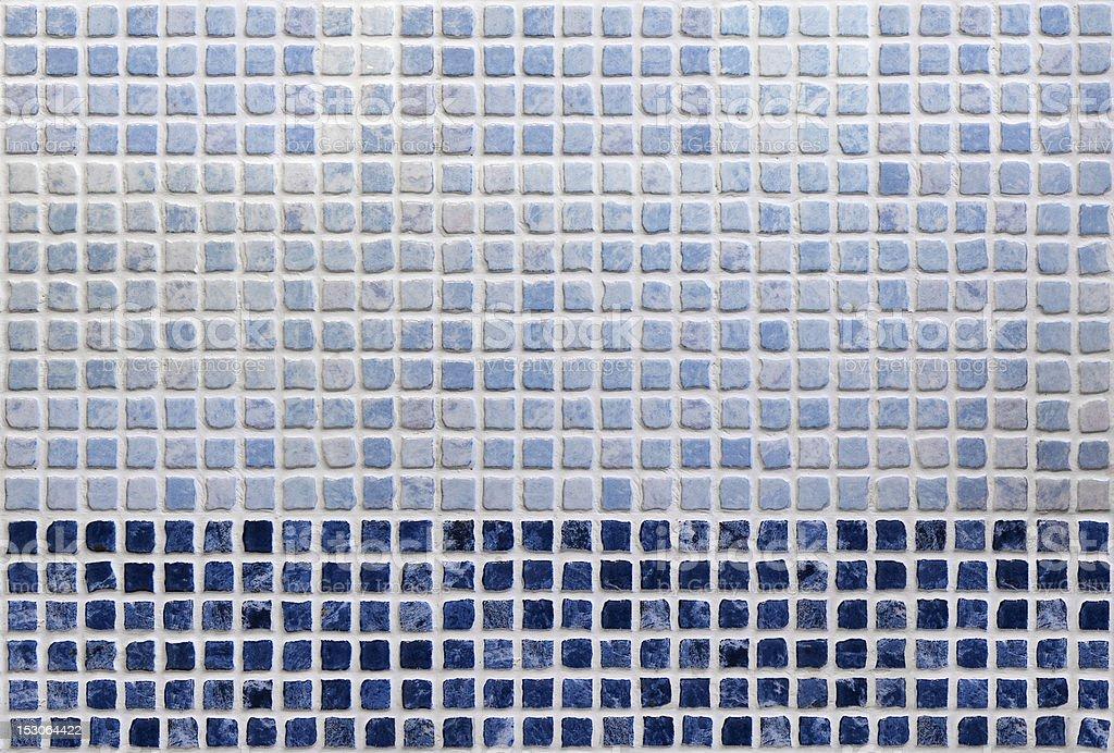 Azul fondo de azulejos de baño - foto de stock
