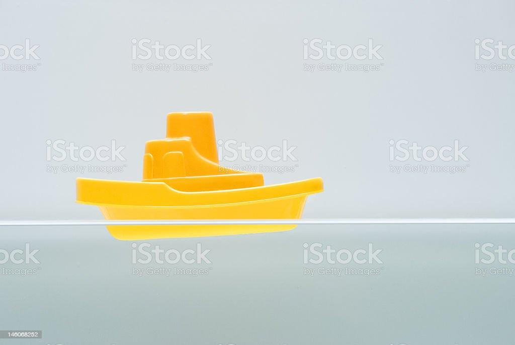 Bathroom Boat stock photo