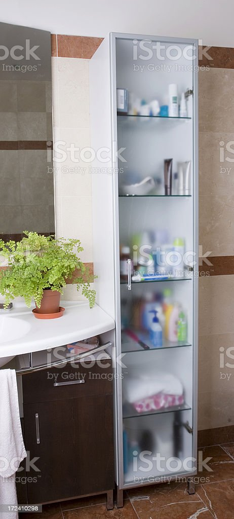 bathroom cabinet royalty-free stock photo