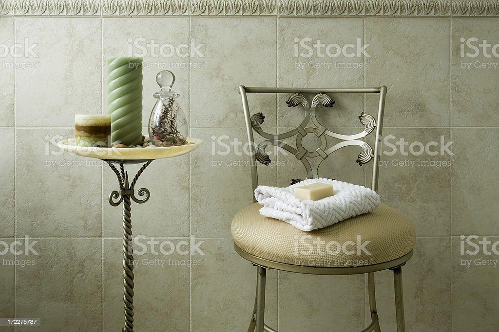 bathroom chair royalty-free stock photo