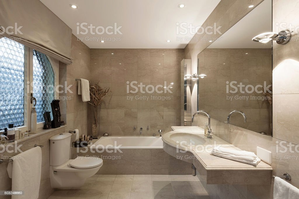 Bathroom, classic design stock photo