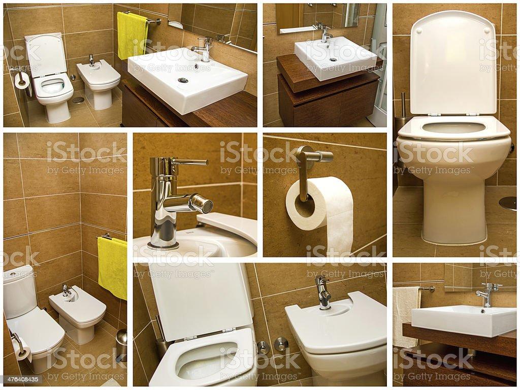 Bathroom collage stock photo