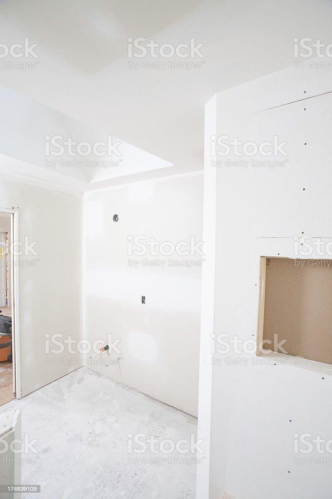 Bathroom construction stock photo