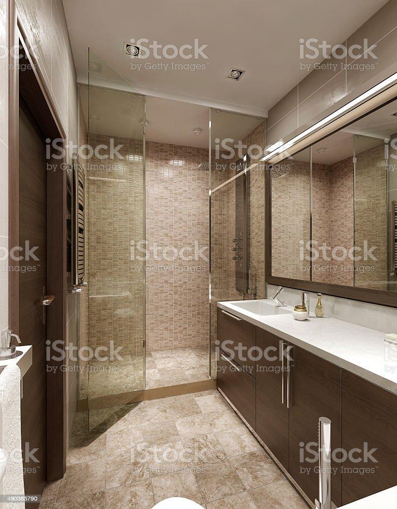 Bathroom contemporary style stock photo