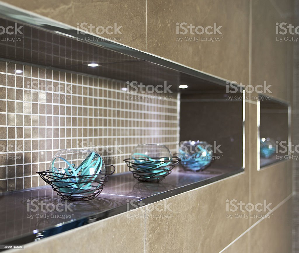 bathroom decorative feature royalty-free stock photo
