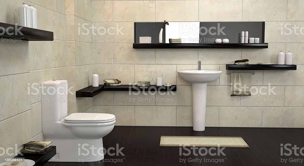 Bathroom design stock photo