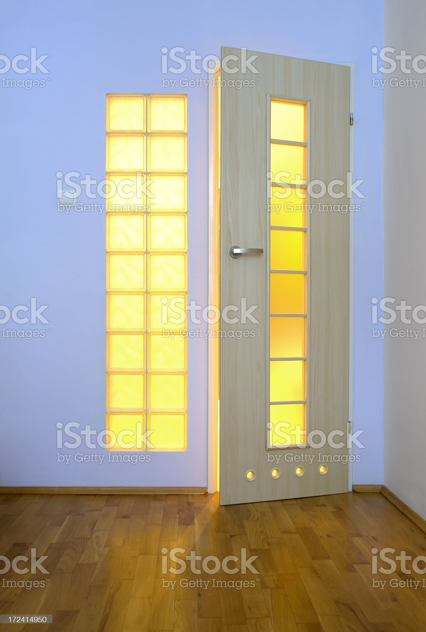 Bathroom door royalty-free stock photo