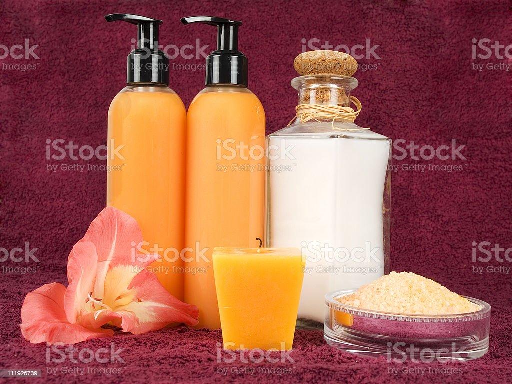 Bathroom essentials royalty-free stock photo