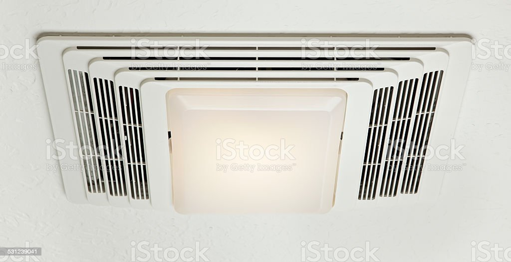 Bathroom Exhaust Fan stock photo