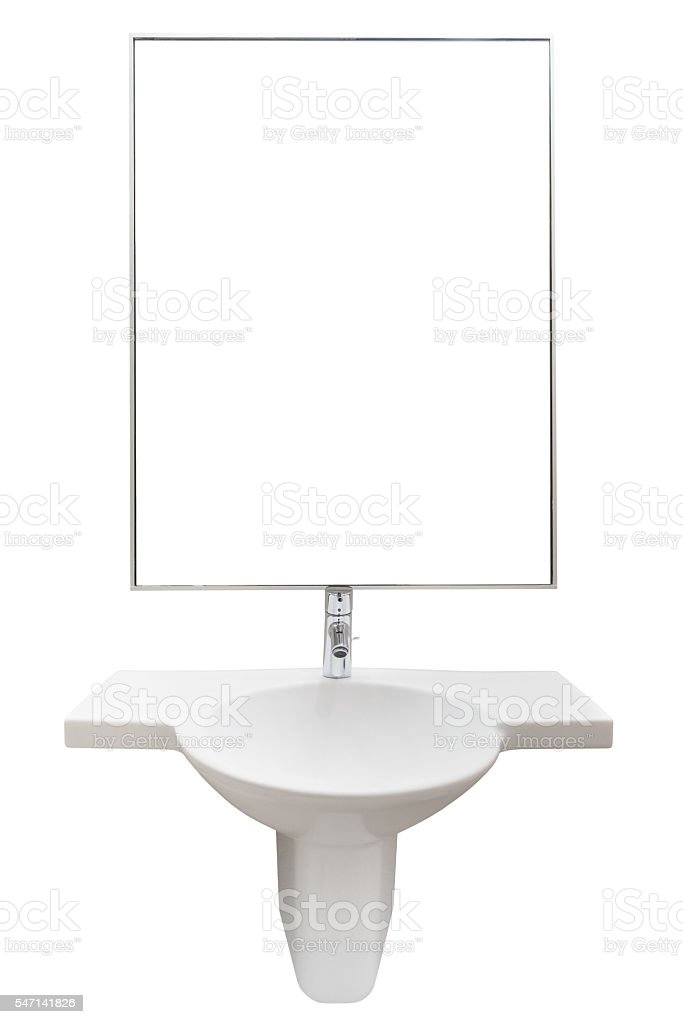 bathroom furniture isolated on a white background stock photo