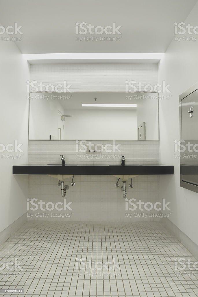 Bathroom hand wash station stock photo