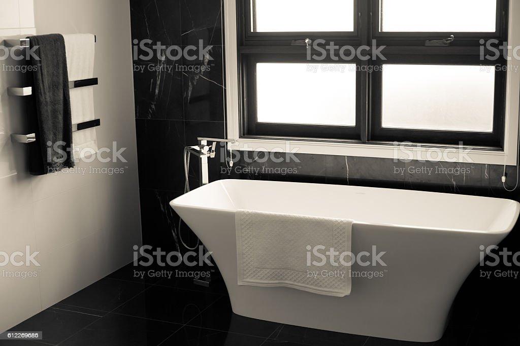 bathroom , house interior stock photo