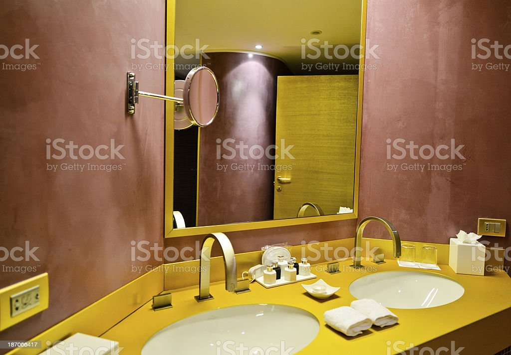 Bathroom in a Luxury Hotel Suite royalty-free stock photo