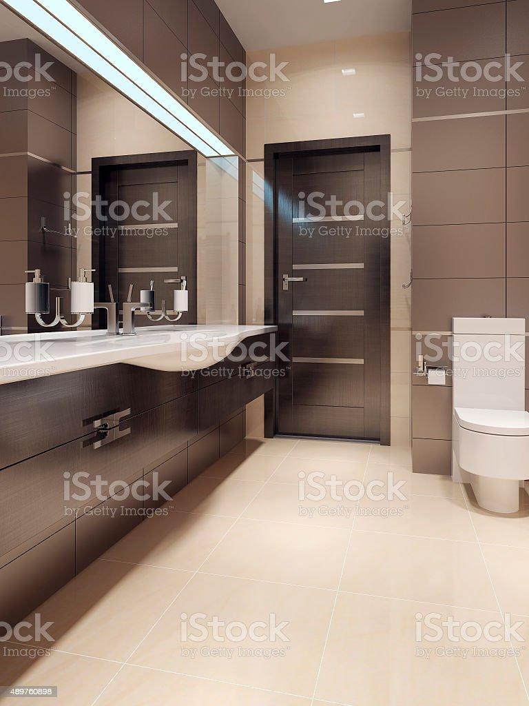 Bathroom in contemporary style stock photo