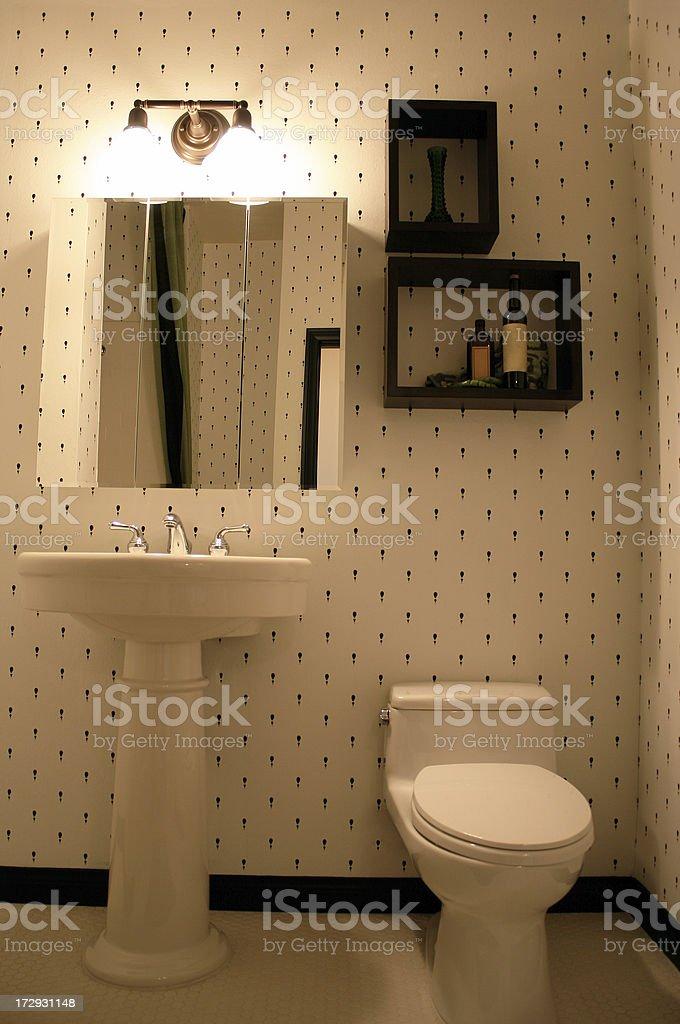 Bathroom in Cream royalty-free stock photo