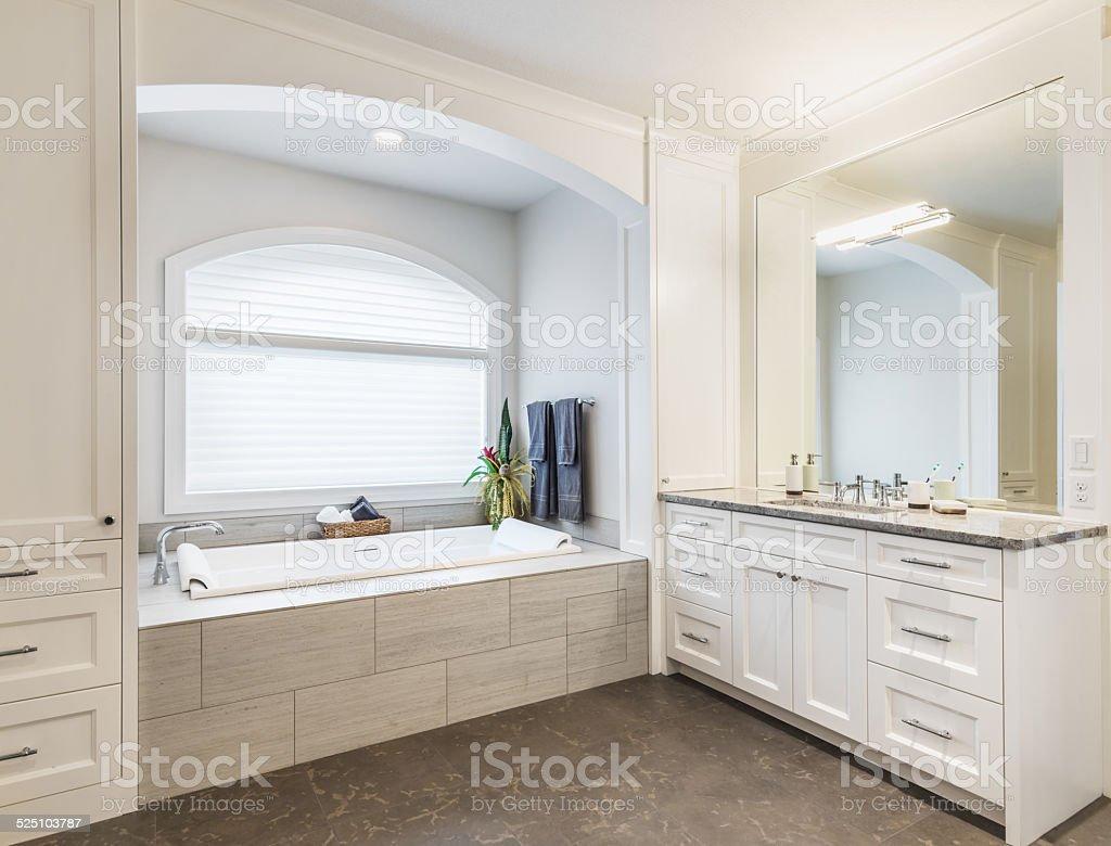 Bathroom in Luxury Home stock photo