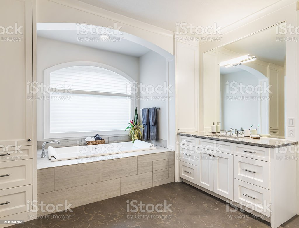 Bathroom in Luxury Home stock photo