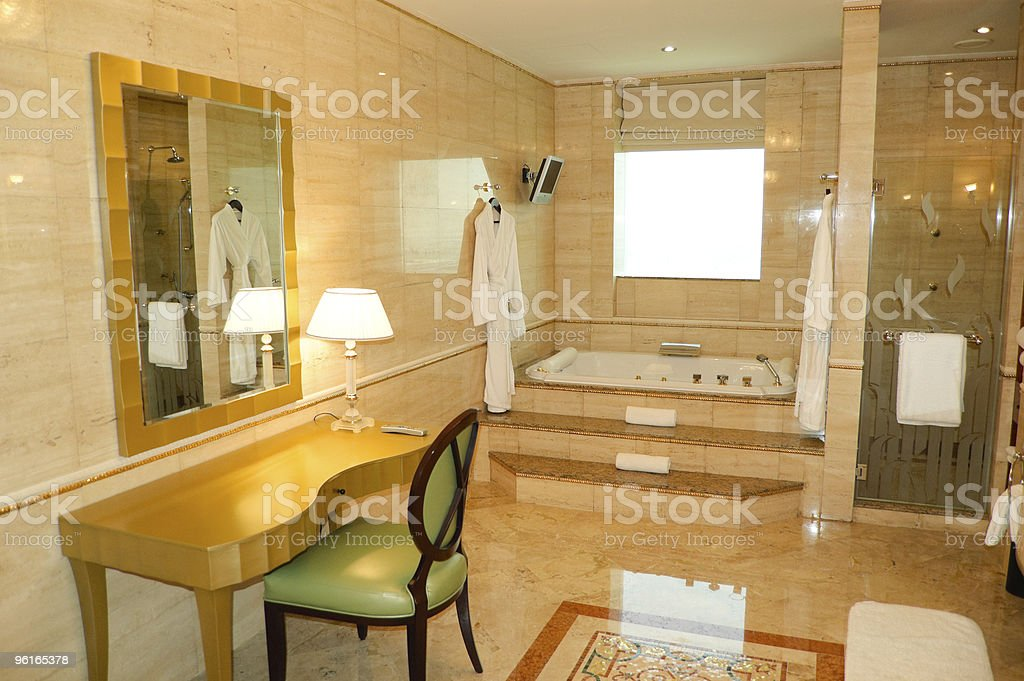 Bathroom in luxury hotel, Dubai, UAE royalty-free stock photo