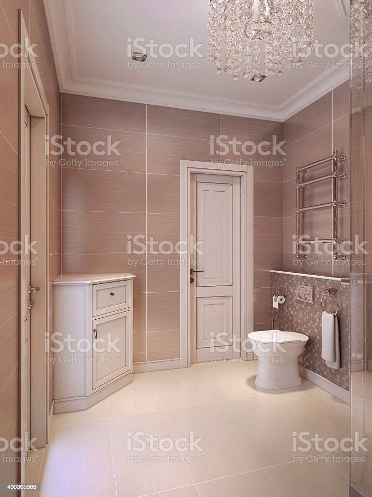 Bathroom in the neoclassical style stock photo