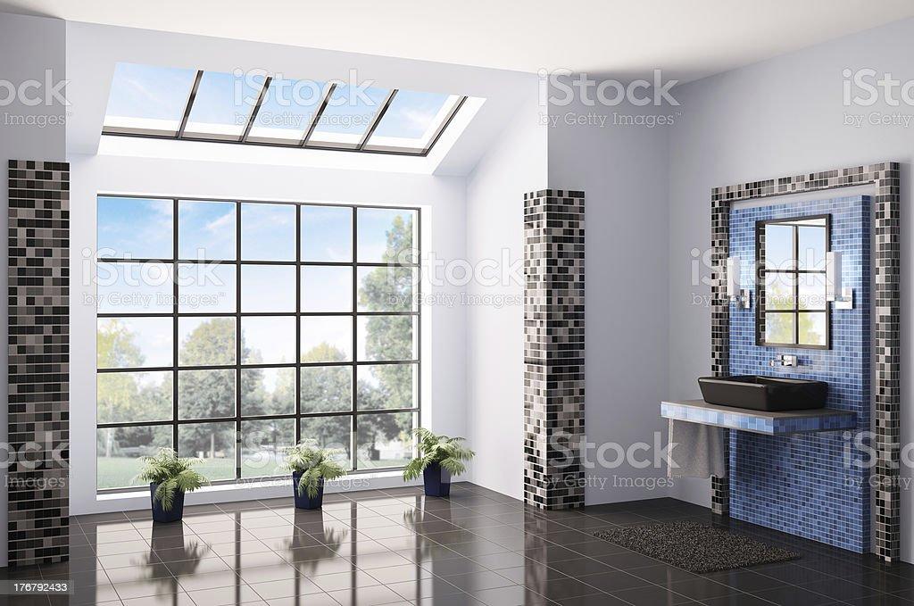 Bathroom interior 3d render royalty-free stock photo