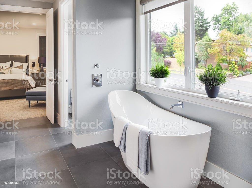Bathroom Interior in Luxury Home stock photo