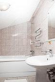 bathroom interrior. bath