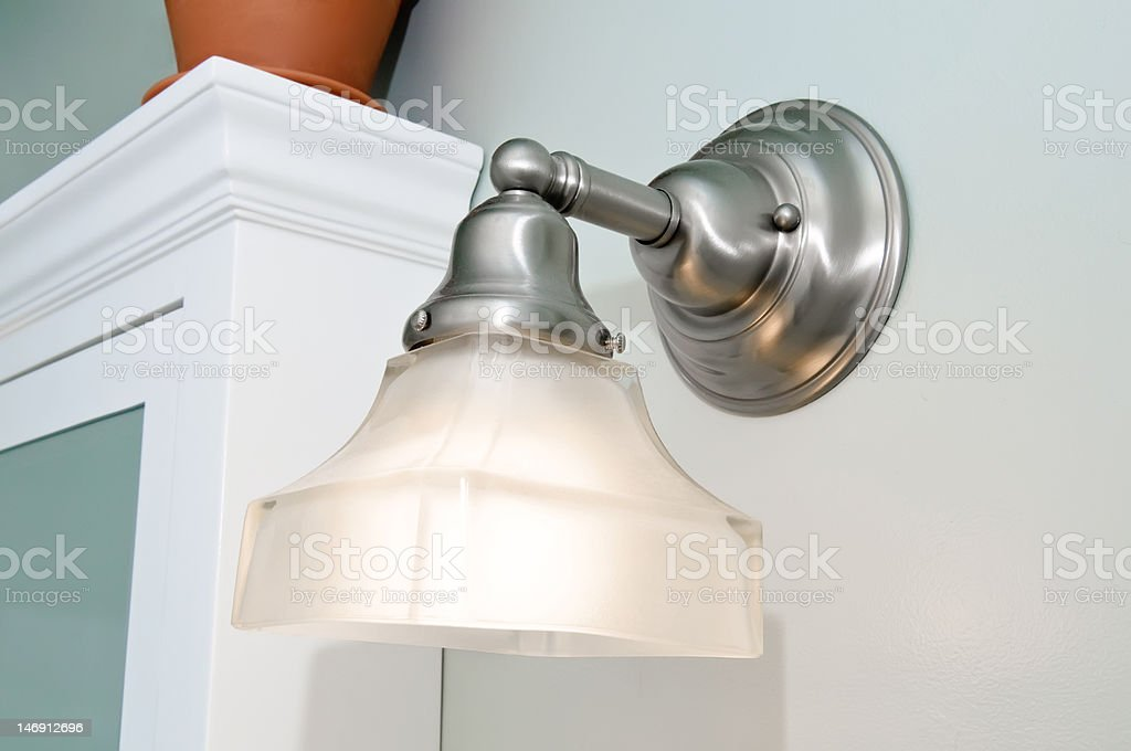 Bathroom Light Fixture stock photo