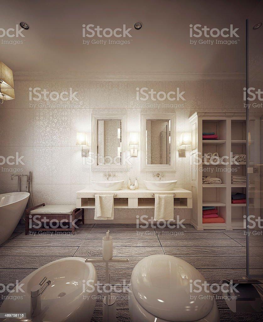 bathroom modern style stock photo
