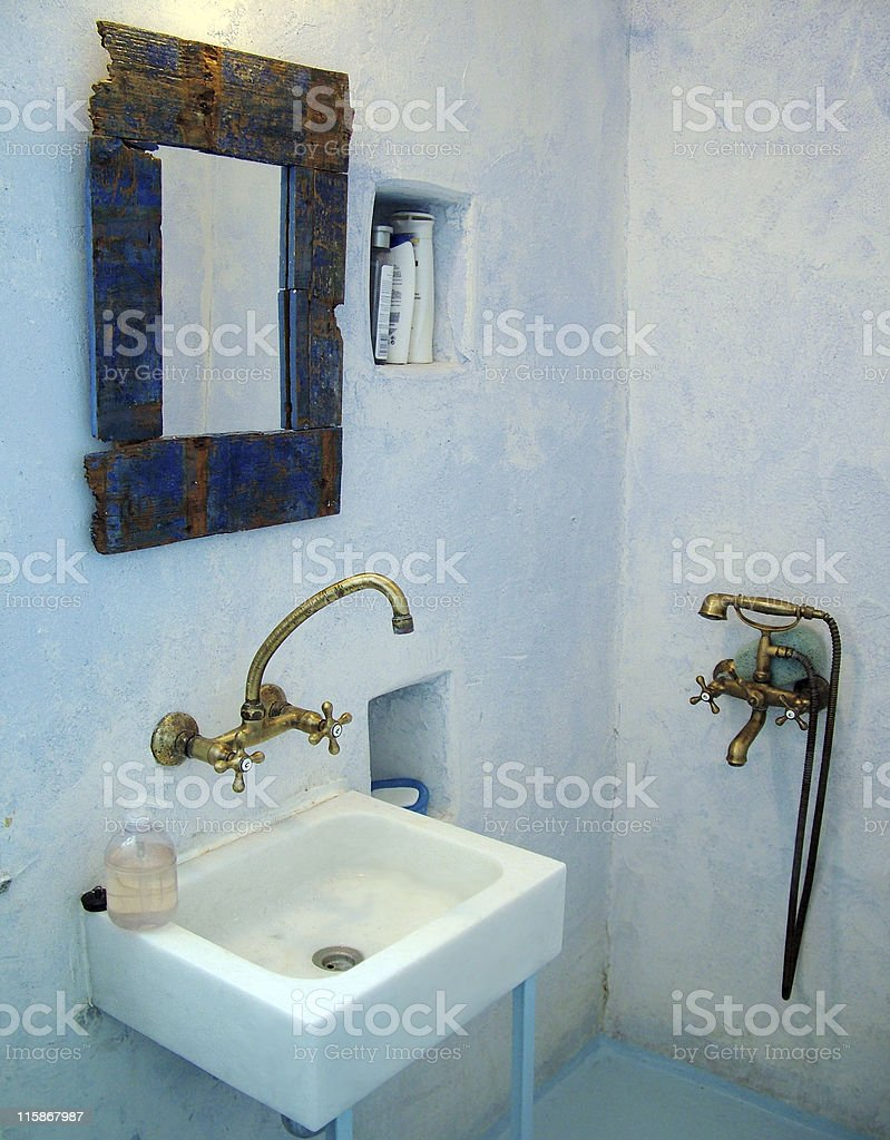 Bathroom of a cottage royalty-free stock photo