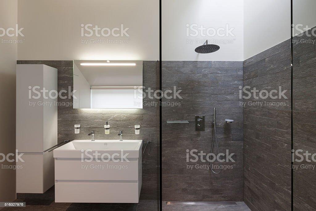 Bathroom of a modern house stock photo