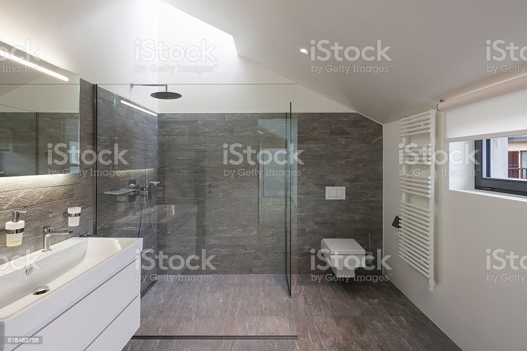 Bathroom of a modern house stock photo