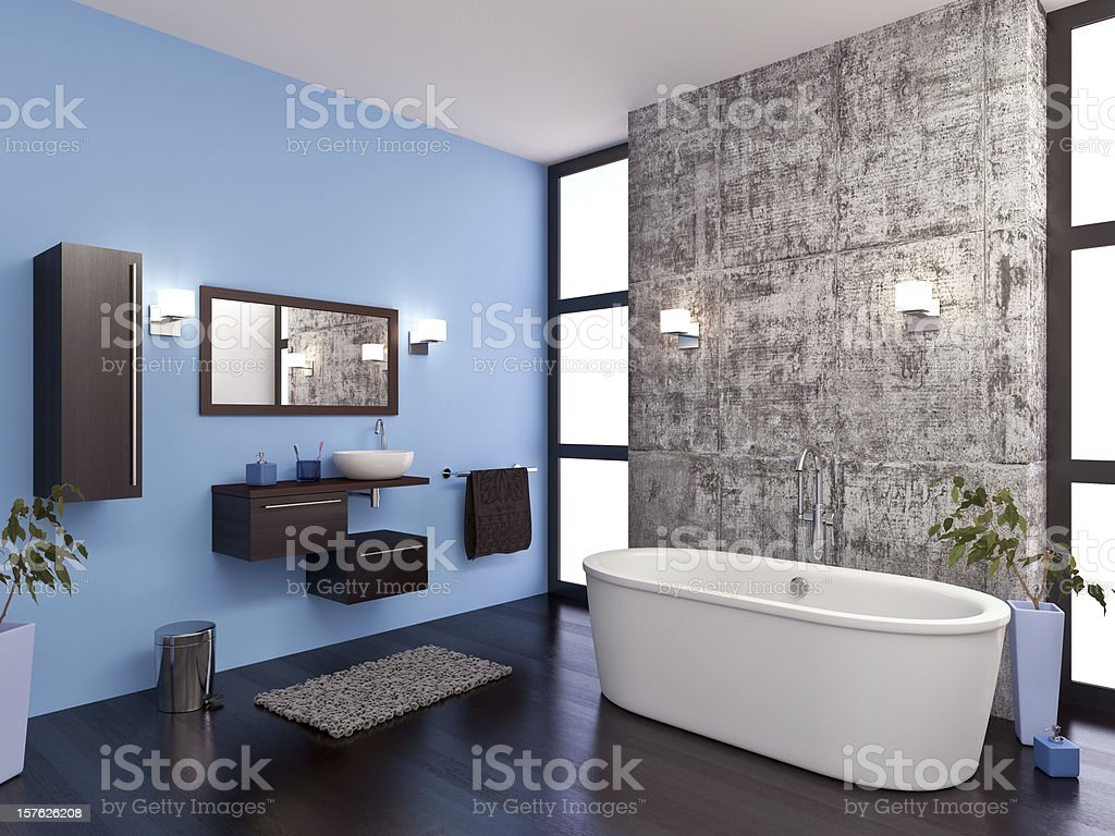 Bathroom vector art illustration