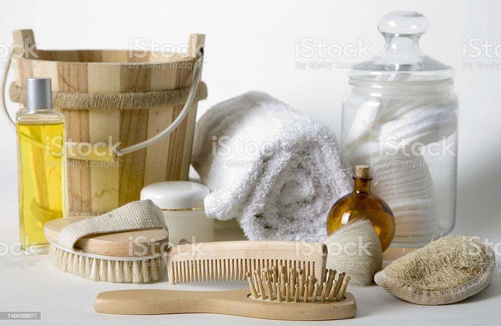 Bathroom products royalty-free stock photo