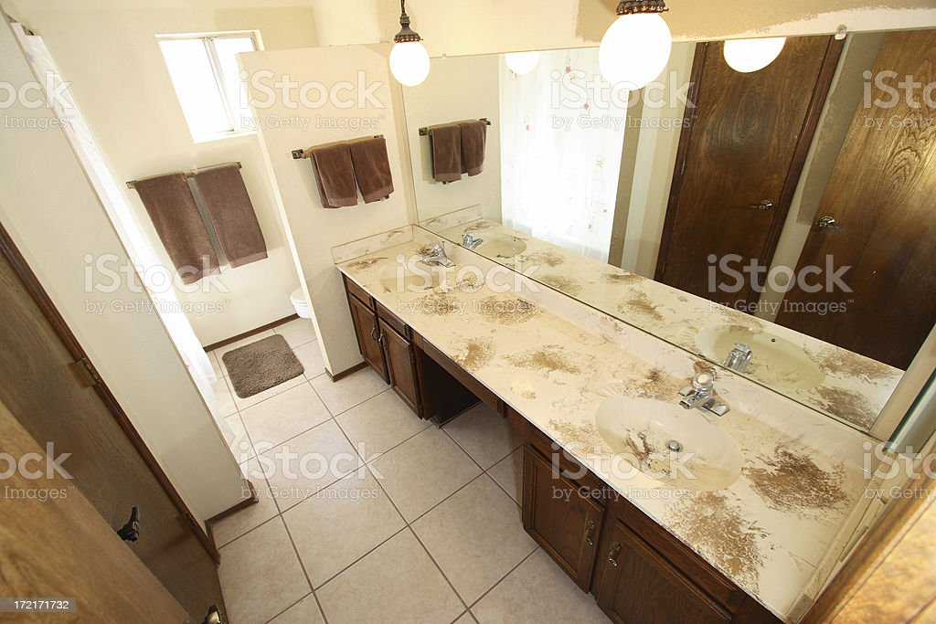 Bathroom Remodel Series 1 royalty-free stock photo