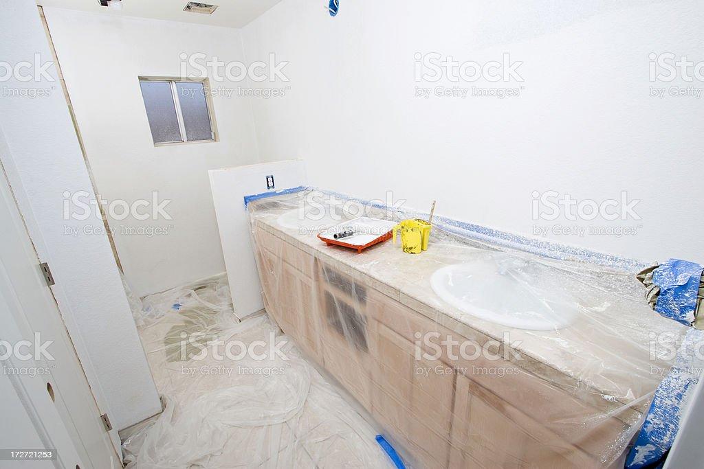 Bathroom Remodel Series 10 Primer royalty free stock photo  Bathroom  Remodel Series 10 Primer stock. Primer Bathroom
