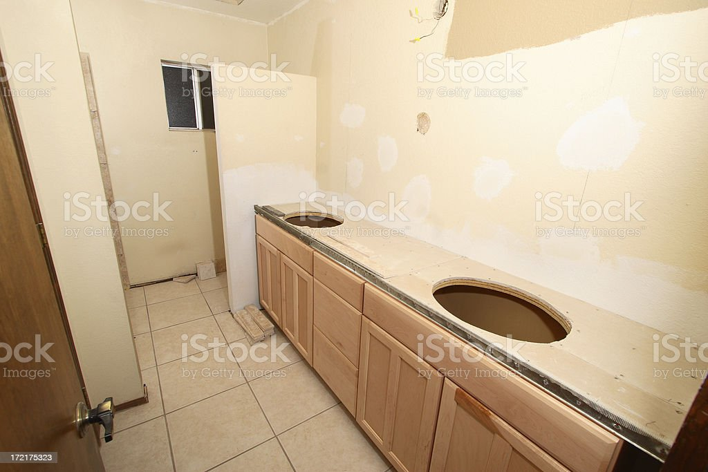 Bathroom Remodel Series 2: Cabinets royalty-free stock photo