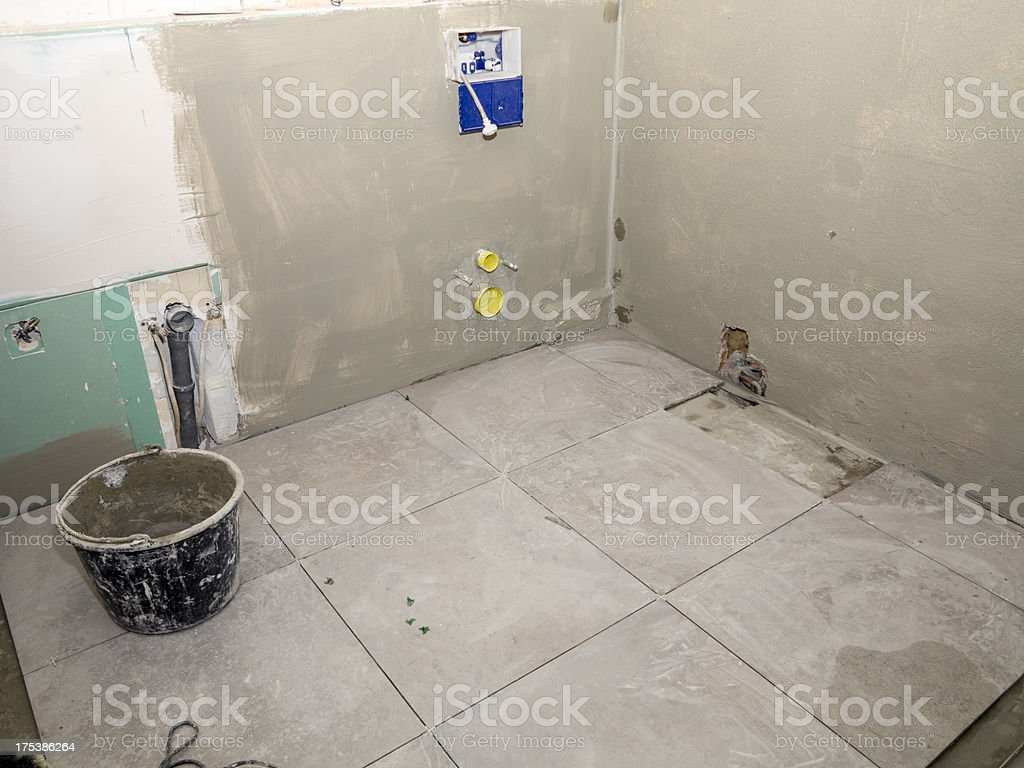 Bathroom renovation/home improvement royalty-free stock photo