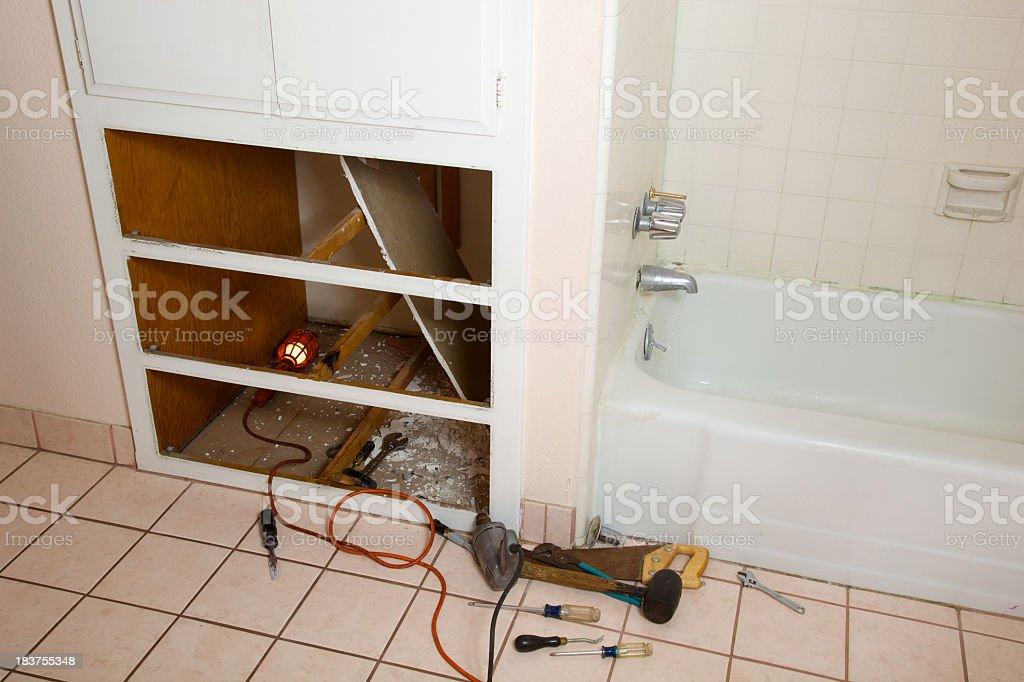 Bathroom Repair Equipment royalty-free stock photo