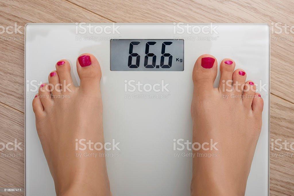Bathroom Scale 666 stock photo