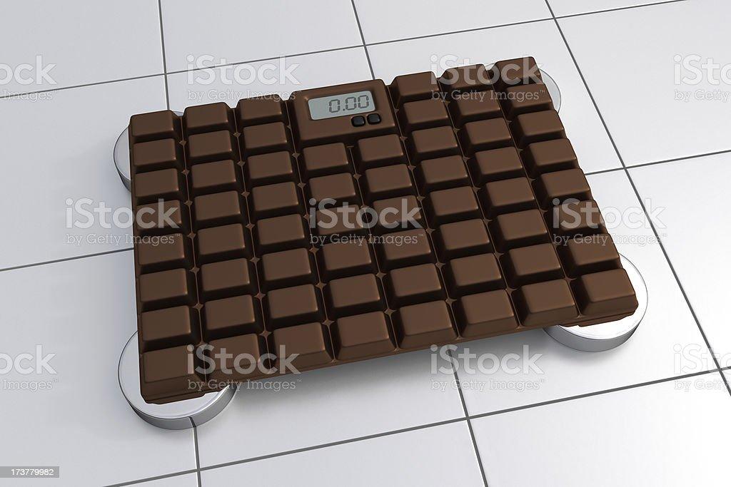 3D Bathroom Scale - Chocolate Design royalty-free stock photo