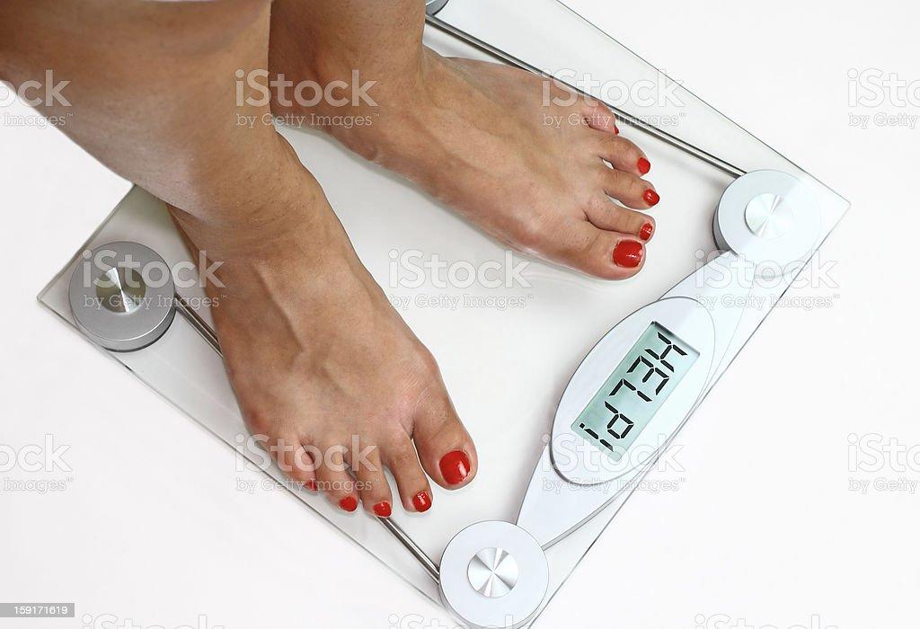 Bathroom scale stock photo
