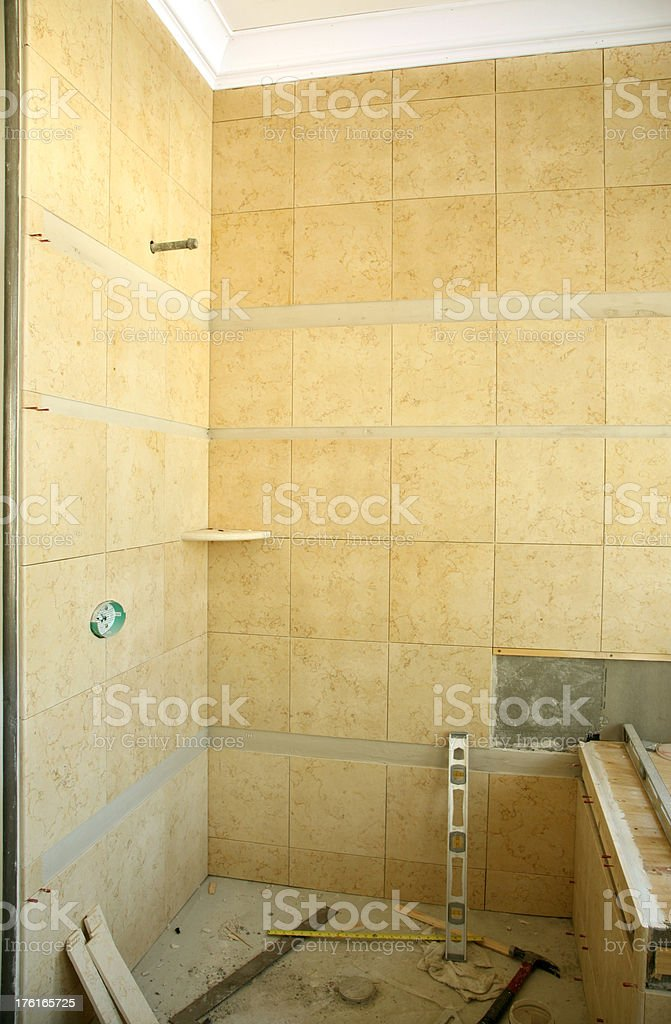 Bathroom Shower Remodel royalty-free stock photo